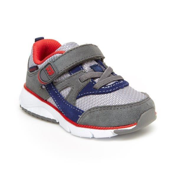 Stride Rite M2P Ace Sneaker - Navy/Grey-Pumpkin Pie Kids Canada