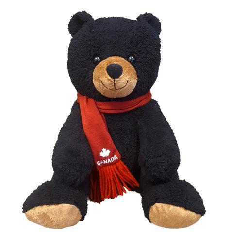 "Stuffed Animal House Softly Critter Sitting Black Bear Canada 10""-SCS-01-Pumpkin Pie Kids Canada"