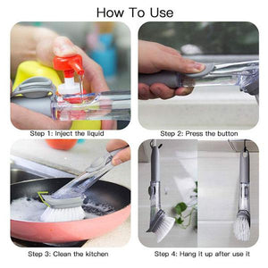 2-in-1 Dishwashing Brush