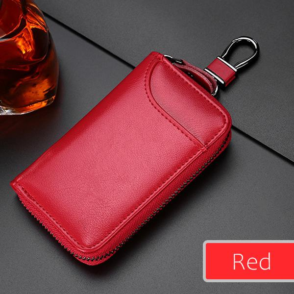 High Capacity Leather Key Pouch