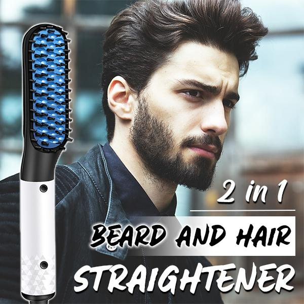 2 in 1 Beard and Hair Straightener