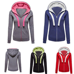 Autumn Fashion Colorblocked Sport Hoodies
