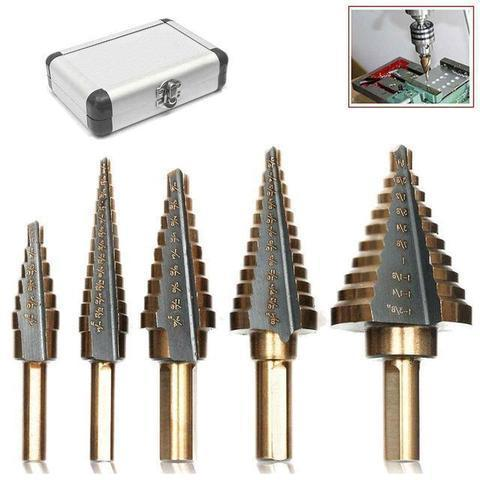 Cobalt Step Drill Bits Set