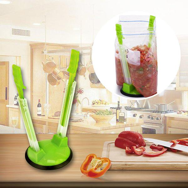 Hands Free Zip Lock Bag Holder (2 Pcs)