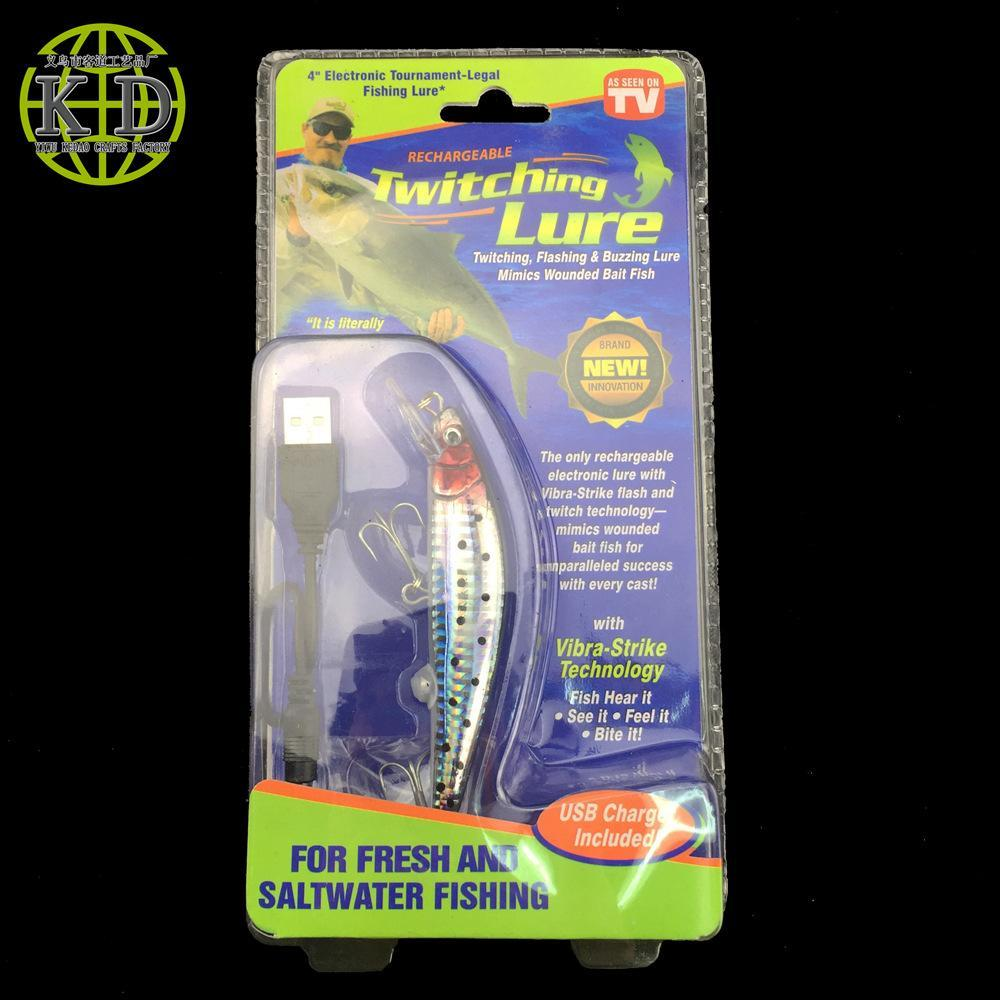 Rechargeable Artificial LED Twitching Lure