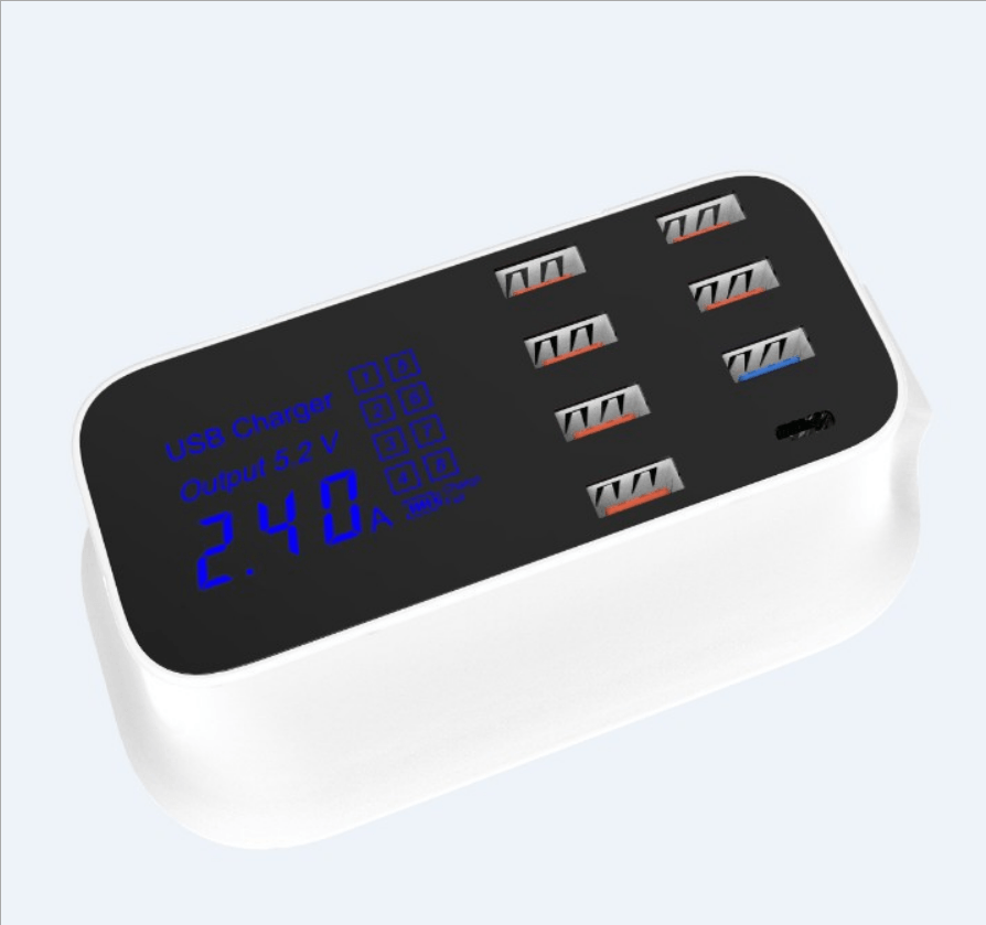 Smart 8-Port USB & Type-C Quick Charge Station