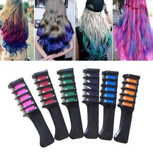 Temporary Hair Dye Comb (6 Pcs / Set)