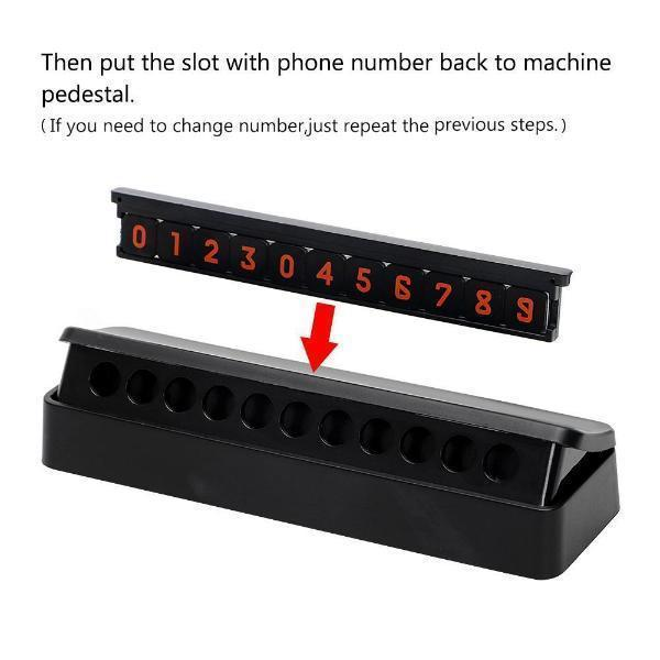Temporary Parking Phone Number Display Card