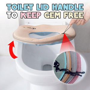 WinterBest Zipped Toilet Seat Cover