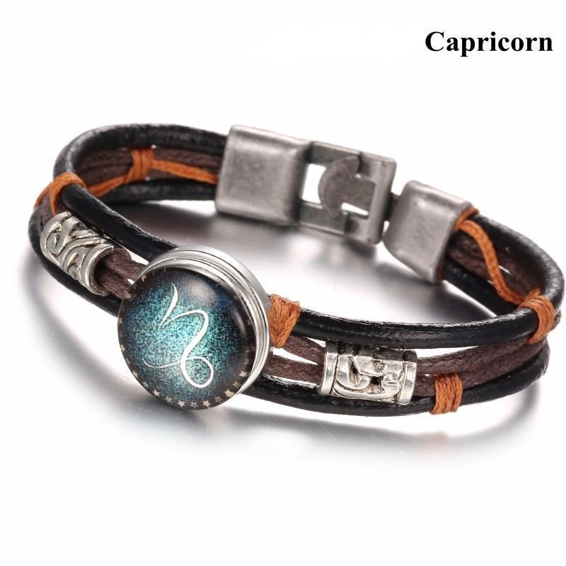 Zodiac Constellation Snap Buton Bracelet
