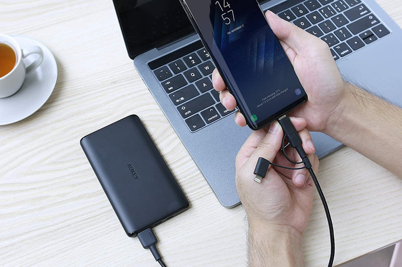 Aukey-3-in-1 MFi Lightning Cable with Micro-USB & USB-C