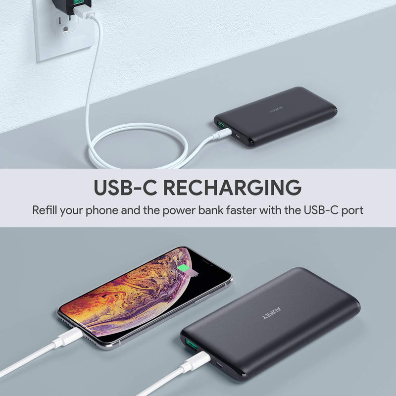 Aukey USB Type C 10000mAh Ultra Slim Power Bank (PB-XN10)