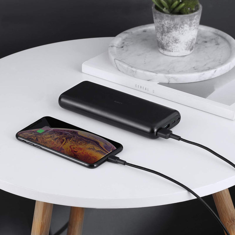 Aukey USB Type C 20000mAh Ultra Slim Power Bank