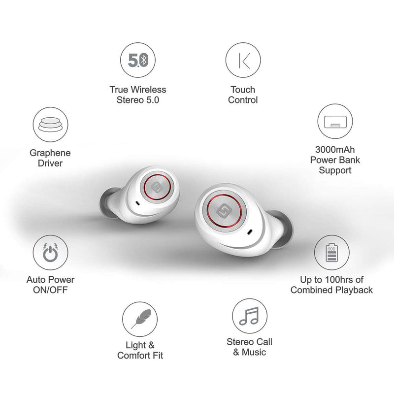HiFuture TidyBuds Pro True Wireless Earbuds with Wireless Charging Case