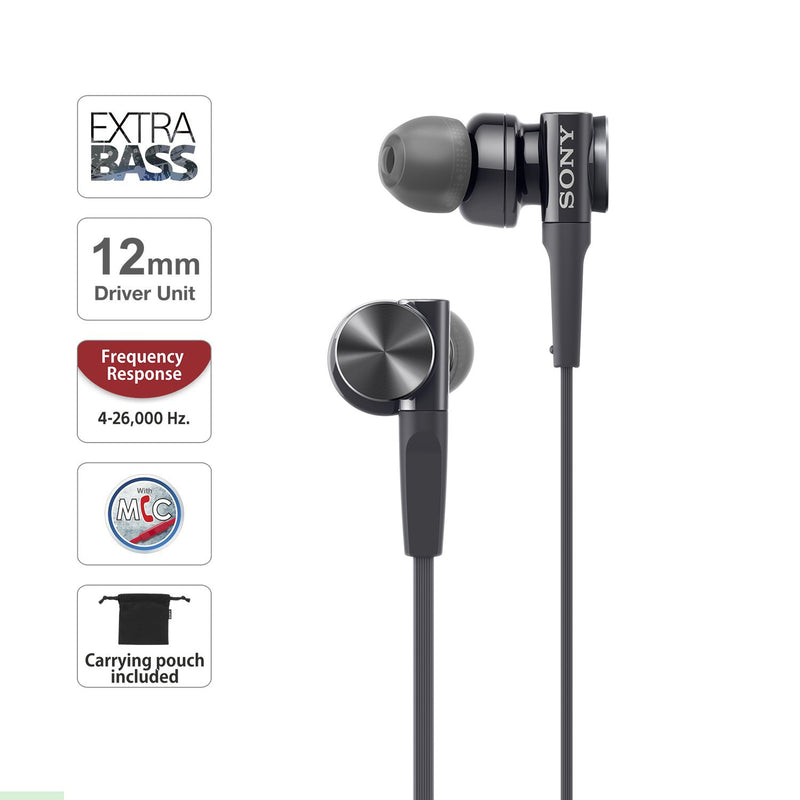 Sony MDR-XB75AP Extra Bass Wired Earphones With Mic