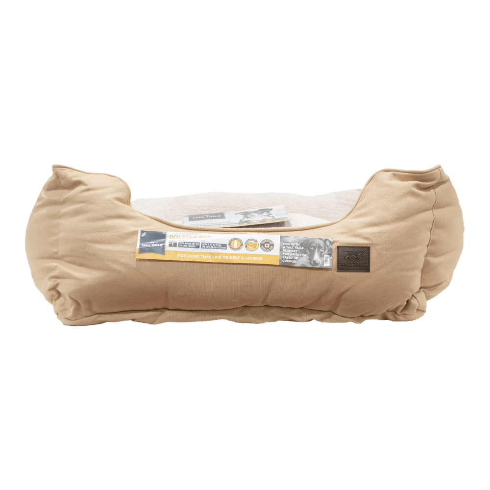 Dream Bolster Bed (Khaki) | Tall Tails