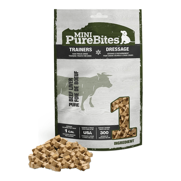 Mini Trainers Beef Liver 3oz | Purebites