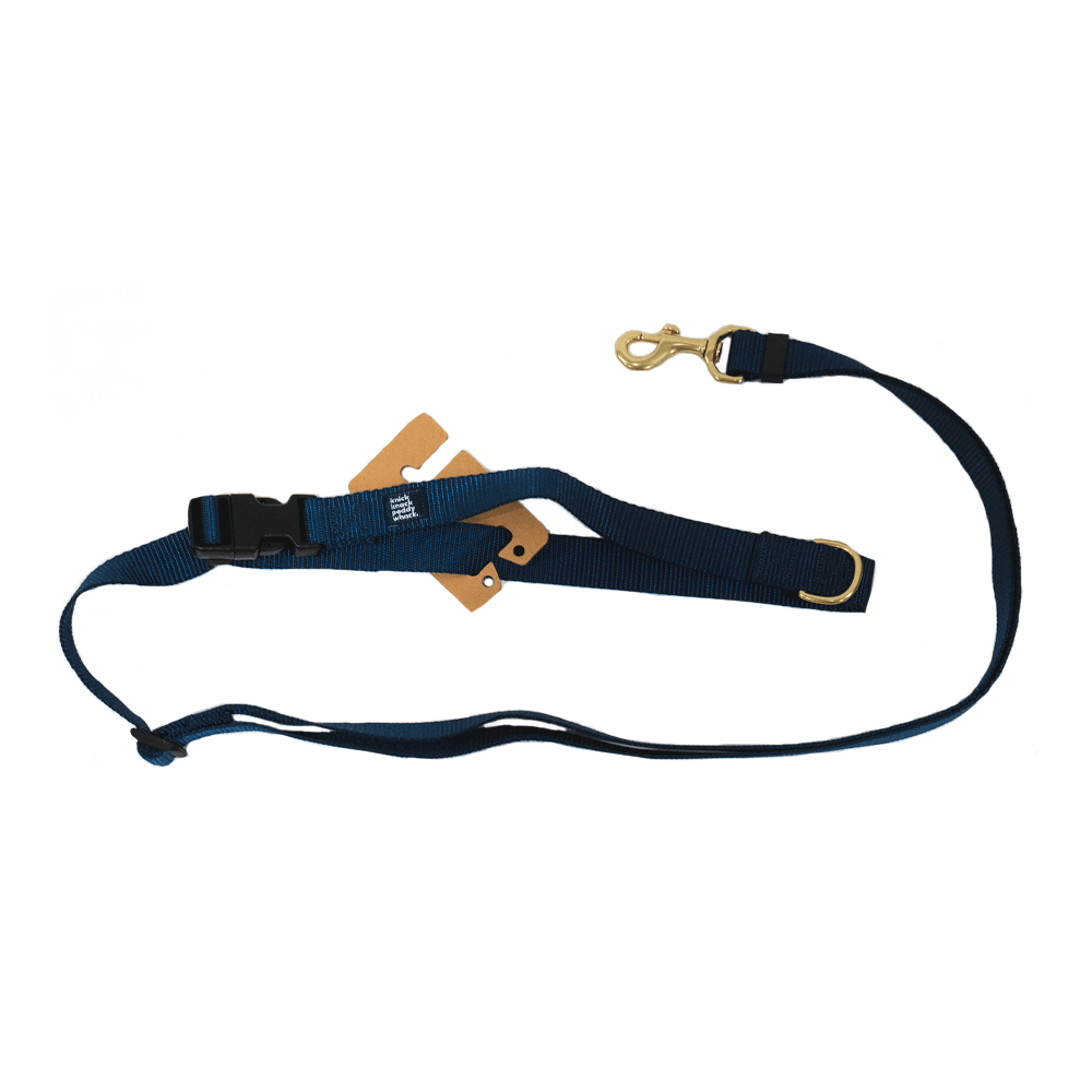 Navy Leash Adjustable 4ft-7ft | Knick Knack Paddy Whack