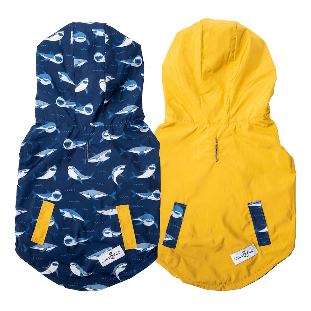 Shark Attack Reversible Raincoat | Lucy & Co.