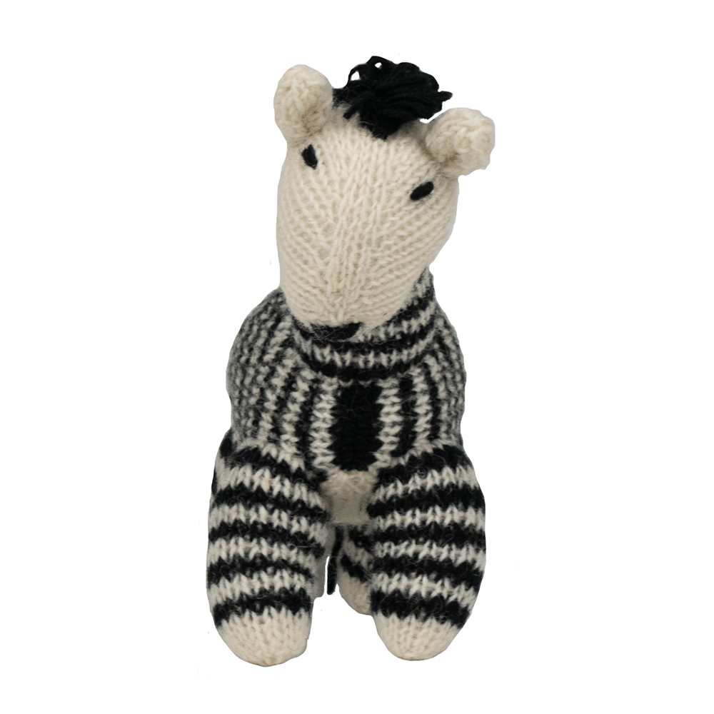 Hand Knit Zebra | Ware of the Dog