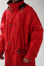 Load image into Gallery viewer, Avalanche long ski jacket in red for women XL