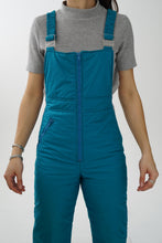 Load image into Gallery viewer, Vintage turquoise Joff overalls snow pants for women size S