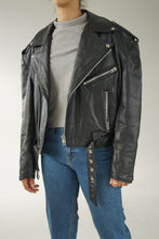 Load image into Gallery viewer, 80s vintage leather perfecto S for men