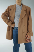 Load image into Gallery viewer, La Redoute vintage wool & cashmere coat from France