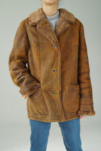 Load image into Gallery viewer, Vintage sheepskin jacket made in Germany Inga Barth size medium