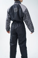 Charger l'image dans la galerie, One piece vintage AD Collection ski suit, snow suit gris et noir unisex taille M