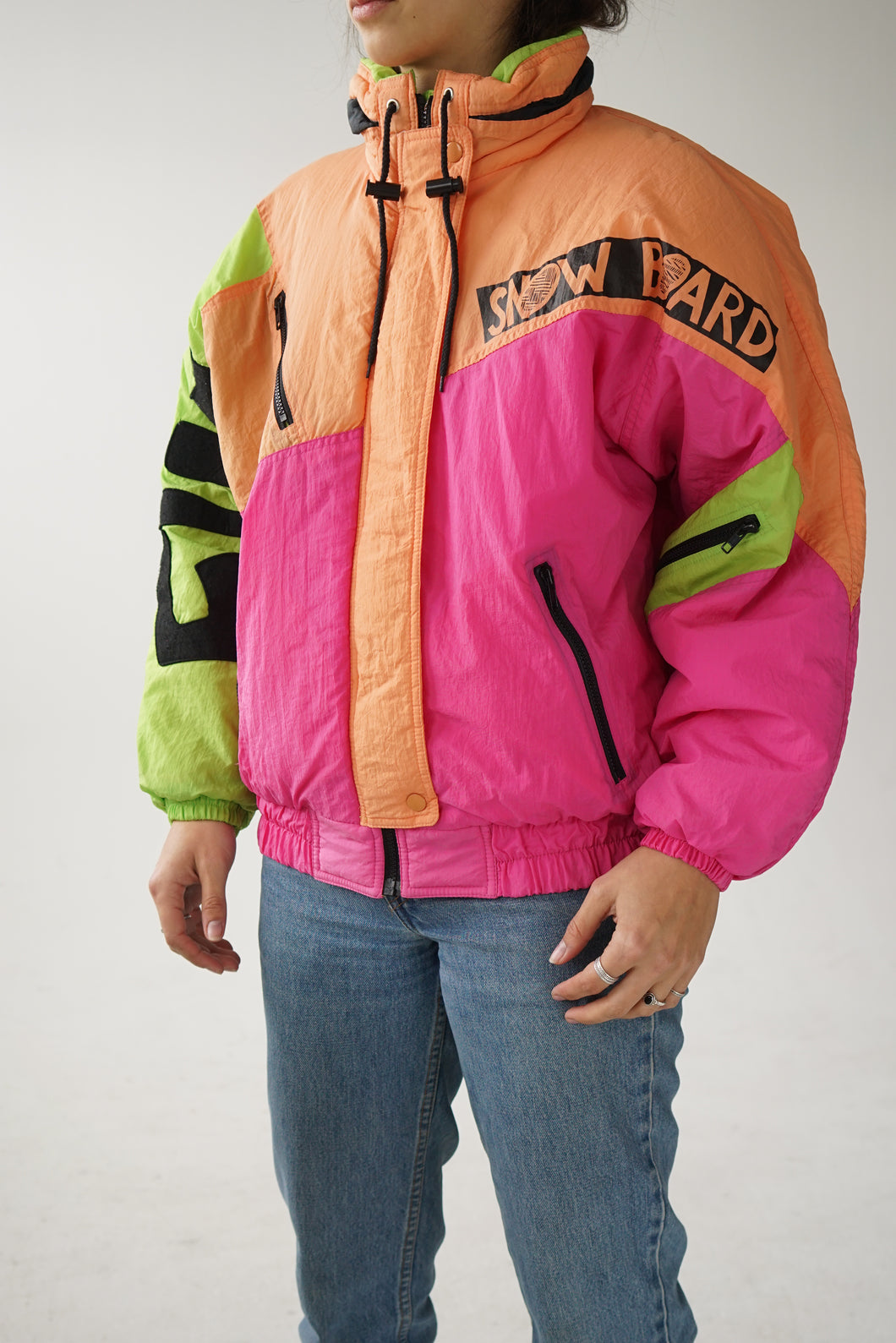 Manteau 80s fluo Sky Ice dead stock medium