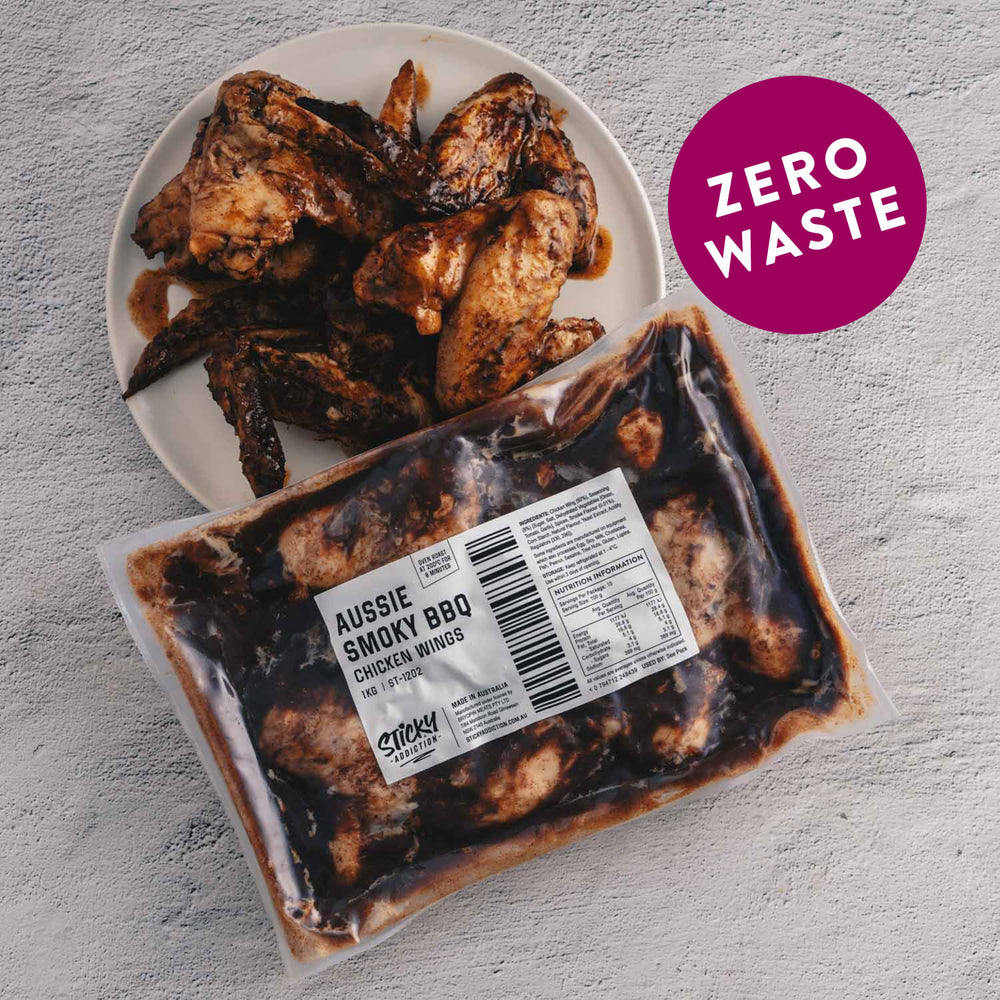 "Load image into Gallery viewer, Aussie Smoky BBQ <p class=""product-type"">Fully Cooked Chicken Wings </p><p class=""product-format"">10 x 1kg Pack Carton</p>"