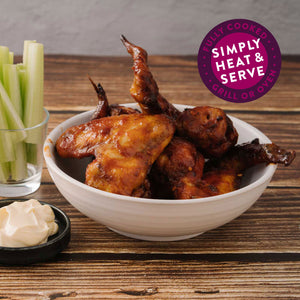 "Load image into Gallery viewer, American Buffalo <p class=""product-type"">Fully Cooked Chicken Wings </p><p class=""product-format"">10 x 1kg Pack Carton</p>"