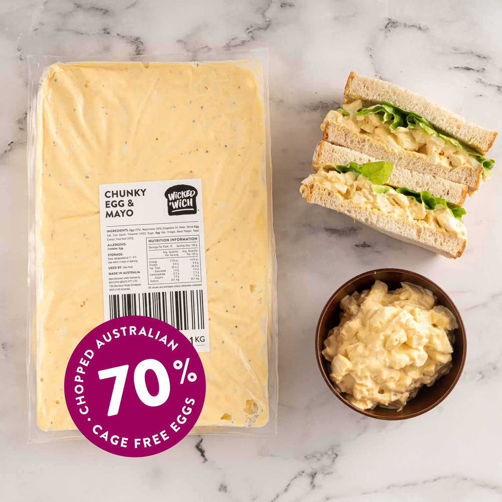 "Load image into Gallery viewer, Chunky Egg & Mayo <p class=""product-type"">Sandwich Filling </p><p class=""product-format"">10 x 1kg Pack Carton</p>"