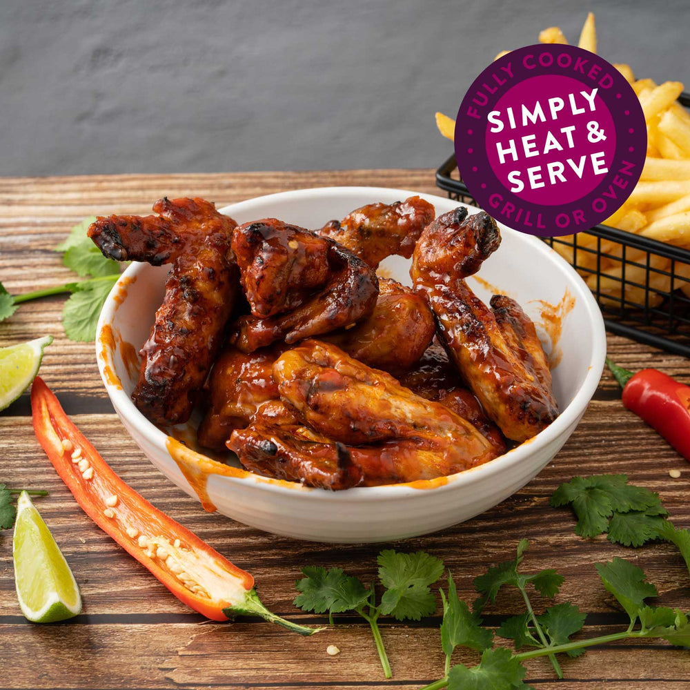 Vietnamese Sweet Chilli Fully Cooked Chicken Wings 1kg Pack