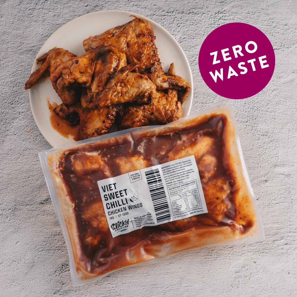 "Load image into Gallery viewer, Vietnamese Sweet Chilli <p class=""product-type"">Fully Cooked Chicken Wings </p><p class=""product-format"">10 x 1kg Pack Carton</p>"