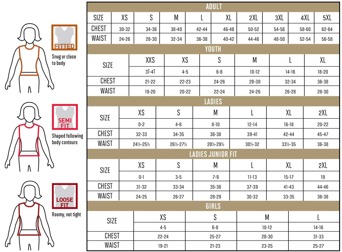 12f0043f76 For general size guidance check specific garment measurements by style  online