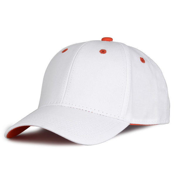 The Game GB2016 White Snapback Cotton Twill Cap - White Orange
