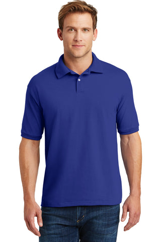 Hanes 054X Ecosmart 5.2-Ounce Jersey Knit Sport Shirt - Deep Royal