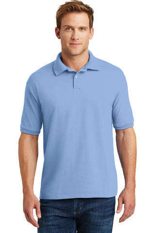 Hanes 054X Ecosmart 5.2-Ounce Jersey Knit Sport Shirt - Light Blue