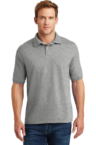 Hanes 054X Ecosmart 5.2-Ounce Jersey Knit Sport Shirt - Light Steel