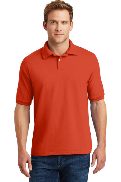 Hanes 054X Ecosmart 5.2-Ounce Jersey Knit Sport Shirt - Orange