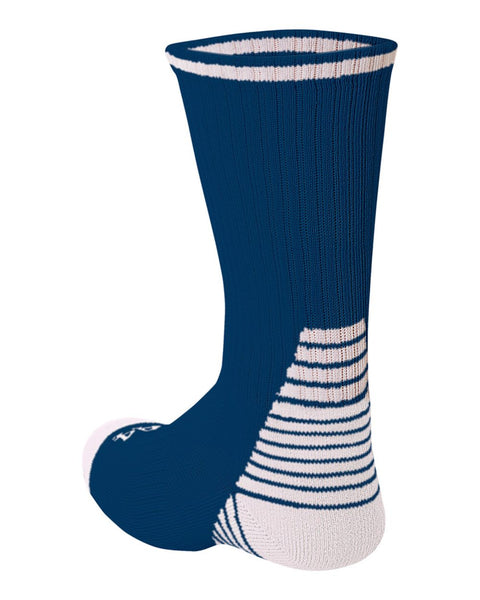 A4 S8009 Pro Team Crew Sock - Navy White