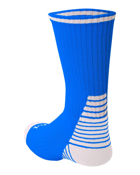 A4 S8009 Pro Team Crew Sock - Royal White