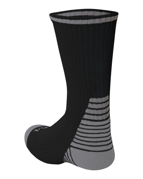 A4 S8009 Pro Team Crew Sock - Black Heather