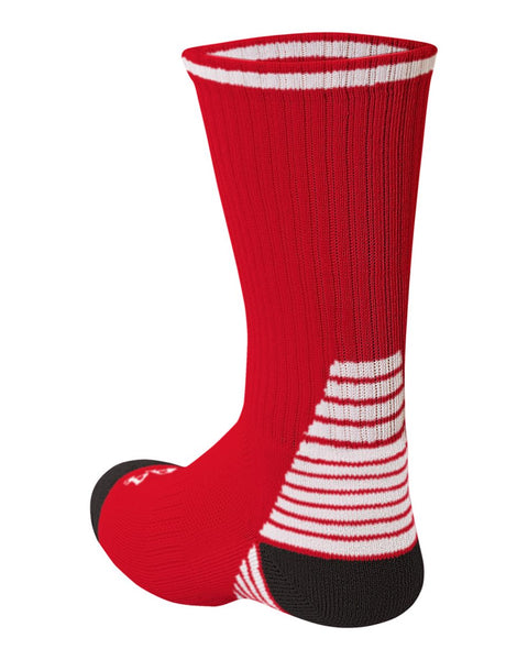 A4 S8009 Pro Team Crew Sock - Red White Black