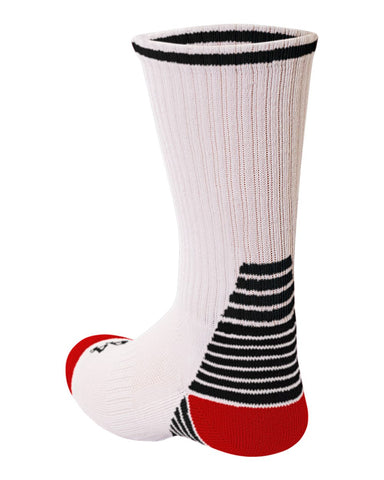A4 S8009 Pro Team Crew Sock - White Black Red