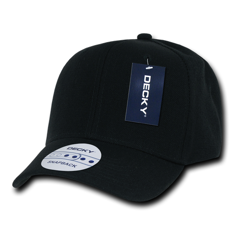 Decky 1015 Curved Bill Baseball Cap - Black - HIT A Double