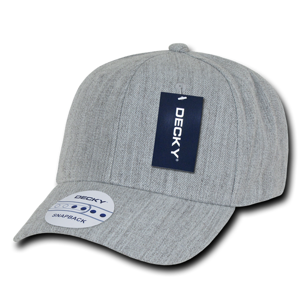 Decky 1015 Curved Bill Baseball Cap - Heather Gray - HIT A Double