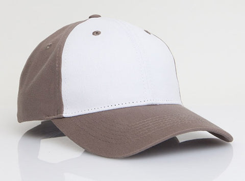 Pacific Headwear 101C Brushed Cotton Hook-and-Loop Cap - White Bedrock